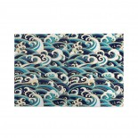 Traditional Oriental Style Ocean Waves Pattern puzzle, 1000 Piece Wooden Fun Jigsaw,Apply toAdult 75cm X 50cm