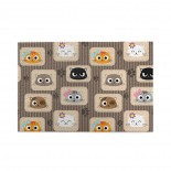 Patchwork Inspired Kitty Pattern puzzle, 1000 Piece Wooden Fun Jigsaw,Apply toFamily 75cm X 50cm