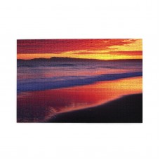 Sunset At The Seaside puzzle, 1000 Piece Wooden Fun Jigsaw,Apply to Graduation Gift 75cm X 50cm