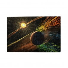 A Comet Strikes The Moon puzzle, 1000 Piece Wooden Fun Jigsaw,Apply toKids as Birthday 75cm X 50cm