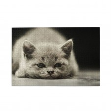 A Cat On The Ground puzzle, 1000 Piece Wooden Fun Jigsaw,Apply toFamily 75cm X 50cm