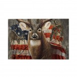 Deer Hunting Season With USA Flag puzzle, 1000 Piece Wooden Fun Jigsaw,Apply toFamily 75cm X 50cm
