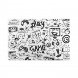 Design Games Black And White puzzle, 1000 Piece Wooden Fun Jigsaw,Apply toAnniversary 75cm X 50cm