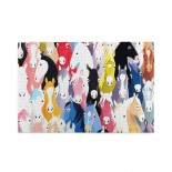 Colorful Cartoon Horses puzzle, 1000 Piece Wooden Fun Jigsaw,Apply toAdult 75cm X 50cm