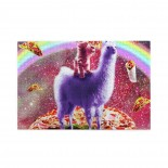 Laser Eyes Outer Space Cat puzzle, 1000 Piece Wooden Fun Jigsaw,Apply toFamily 75cm X 50cm