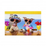 Two Funny Dogs Drinking Cocktails puzzle, 1000 Piece Wooden Fun Jigsaw,Apply toAdult 75cm X 50cm