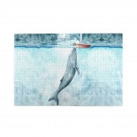Sea Oil Painting Whale puzzle, 1000 Piece Wooden Fun Jigsaw,Apply toAdult 75cm X 50cm