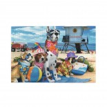 Dogs At The Beach puzzle, 1000 Piece Wooden Fun Jigsaw,Apply to Graduation Gift 75cm X 50cm