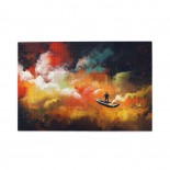 Man On A Boat Floating Nebula Cloud puzzle, 1000 Piece Wooden Fun Jigsaw,Apply toAnniversary 75cm X 50cm