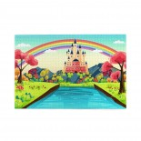 Fairytale Princess Prince Charming Home puzzle, 1000 Piece Wooden Fun Jigsaw,Apply toFamily 75cm X 50cm