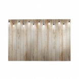 Wood Wall With Bulb Lamp Spotlights puzzle, 1000 Piece Wooden Fun Jigsaw,Apply toFamily 75cm X 50cm