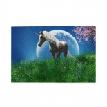 White Unicorn In The Field With Cherry puzzle, 1000 Piece Wooden Fun Jigsaw,Apply toAdult 75cm X 50cm