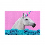 White Unicorn In Dreams Flowers puzzle, 1000 Piece Wooden Fun Jigsaw,Apply toAdult 75cm X 50cm