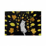 White Cat Leaf puzzle, 1000 Piece Wooden Fun Jigsaw,Apply toFamily 75cm X 50cm
