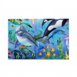 Whale Dolphin Fish Animal puzzle, 1000 Piece Wooden Fun Jigsaw,Apply toAdult 75cm X 50cm