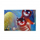Watercolor Cute Cat puzzle, 1000 Piece Wooden Fun Jigsaw,Apply toFamily 75cm X 50cm
