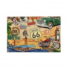Vintage Route 66 puzzle, 1000 Piece Wooden Fun Jigsaw,Apply toAnniversary 75cm X 50cm