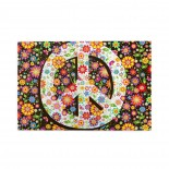 Vintage Flower Print Peace Sign puzzle, 1000 Piece Wooden Fun Jigsaw,Apply toAnniversary 75cm X 50cm