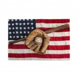 Vintage Baseball With Usa American Flag puzzle, 1000 Piece Wooden Fun Jigsaw,Apply toAdult 75cm X 50cm