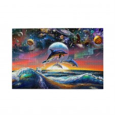 Universal Dolphins puzzle, 1000 Piece Wooden Fun Jigsaw,Apply toAdult 75cm X 50cm