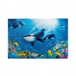 Underwater Life Killer Whale puzzle, 1000 Piece Wooden Fun Jigsaw,Apply to Graduation Gift 75cm X 50cm
