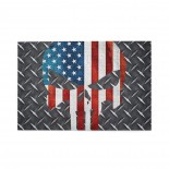 A Flag Skeleton On The Steel Plate puzzle, 1000 Piece Wooden Fun Jigsaw,Apply toAdult 75cm X 50cm