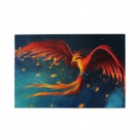 Abstract Red Phoenix puzzle, 1000 Piece Wooden Fun Jigsaw,Apply toFamily 75cm X 50cm