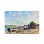 Alfred Sisley The Banks Of Loing At Saint-mammes puzzle, 1000 Piece Wooden Fun Jigsaw,Apply toAnniversary 75cm X 50cm