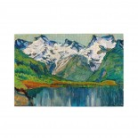 Anna Boberg A Mountain Lake. Study From North Norway puzzle, 1000 Piece Wooden Fun Jigsaw,Apply toFamily 75cm X 50cm