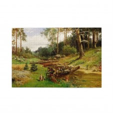 Charles Xv Of Sweden By The Brook In The Forest puzzle, 1000 Piece Wooden Fun Jigsaw,Apply toFamily 75cm X 50cm
