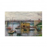 Claude Monet Bridge At Argenteuil On A Gray Day puzzle, 1000 Piece Wooden Fun Jigsaw,Apply toAnniversary 75cm X 50cm