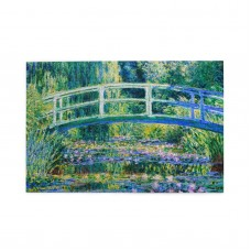 Claude Monet Water Lilies And Japanese Bridge puzzle, 1000 Piece Wooden Fun Jigsaw,Apply toAnniversary 75cm X 50cm