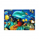 Dolphin Reef puzzle, 1000 Piece Wooden Fun Jigsaw,Apply toAdult 75cm X 50cm