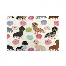 Doxie Dachshunds Donuts Cute Dog puzzle, 1000 Piece Wooden Fun Jigsaw,Apply toAnniversary 75cm X 50cm