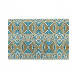 Dusty Brown And Lake Blue Watercolor Pattern puzzle, 1000 Piece Wooden Fun Jigsaw,Apply to Graduation Gift 75cm X 50cm