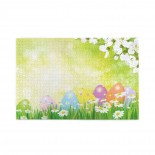 Easter Eggs Shower Set Spring Flowers puzzle, 1000 Piece Wooden Fun Jigsaw,Apply to Graduation Gift 75cm X 50cm