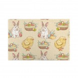 Easter Vintage Eggs Bunny Chick puzzle, 1000 Piece Wooden Fun Jigsaw,Apply to Graduation Gift 75cm X 50cm