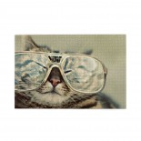 Fat Cat Glasses puzzle, 1000 Piece Wooden Fun Jigsaw,Apply to Graduation Gift 75cm X 50cm