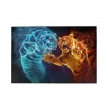 Fire Ice Tiger puzzle, 1000 Piece Wooden Fun Jigsaw,Apply to Graduation Gift 75cm X 50cm