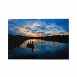 Fishing Scenic puzzle, 1000 Piece Wooden Fun Jigsaw,Apply toFamily 75cm X 50cm