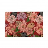 Floral Pug puzzle, 1000 Piece Wooden Fun Jigsaw,Apply toAnniversary 75cm X 50cm