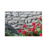 Flowers Of A Red Wild Rose On A Gray Brick Wall puzzle, 1000 Piece Wooden Fun Jigsaw,Apply to Graduation Gift 75cm X 50cm
