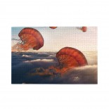 Flying Jelly Fish Ocean puzzle, 1000 Piece Wooden Fun Jigsaw,Apply toAnniversary 75cm X 50cm