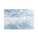 Flying Through Big White Clouds puzzle, 1000 Piece Wooden Fun Jigsaw,Apply to Graduation Gift 75cm X 50cm