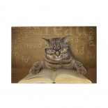 Funny Cat Kitten Reading puzzle, 1000 Piece Wooden Fun Jigsaw,Apply to Graduation Gift 75cm X 50cm