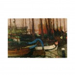 George Hendrik Breitner Ships In The Ice puzzle, 1000 Piece Wooden Fun Jigsaw,Apply to Graduation Gift 75cm X 50cm