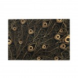 Gold Black Peacock Feather puzzle, 1000 Piece Wooden Fun Jigsaw,Apply toKids as Birthday 75cm X 50cm