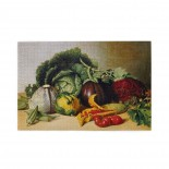 James Peale Still Life- Balsam Apple And Vegetables puzzle, 1000 Piece Wooden Fun Jigsaw,Apply toFamily 75cm X 50cm
