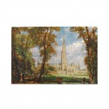 John Constable Salisbury Cathedral From The Bishop's Grounds puzzle, 1000 Piece Wooden Fun Jigsaw,Apply toKids as Birthday 75cm X 50cm