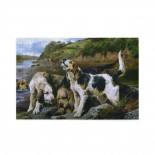 """John Sargent Noble Otter Hunting (""""on The Scent"""") puzzle, 1000 Piece Wooden Fun Jigsaw,Apply toKids as Birthday 75cm X 50cm"""